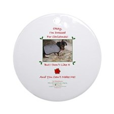 Dressed For Christmas Ornament (Round)