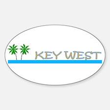 Key West, Florida Oval Decal