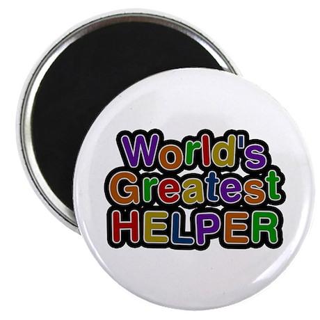World's Greatest Helper Round Magnet