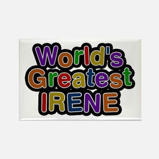 World's Greatest Irene Rectangle Magnet