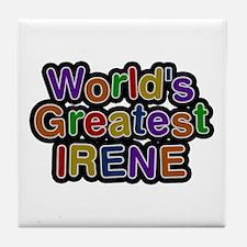 World's Greatest Irene Tile Coaster