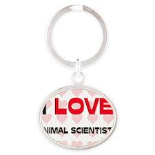 ANIMAL-SCIENTISTS71 Oval Keychain