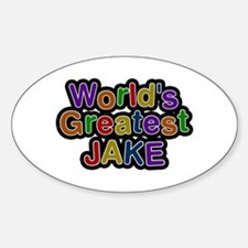 World's Greatest Jake Oval Decal