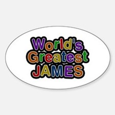 World's Greatest James Oval Decal