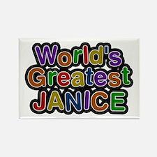 World's Greatest Janice Rectangle Magnet