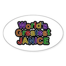 World's Greatest Janice Oval Decal