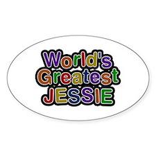 World's Greatest Jessie Oval Decal