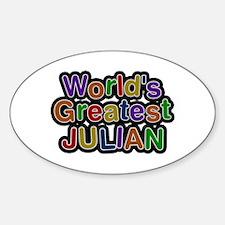 World's Greatest Julian Oval Decal