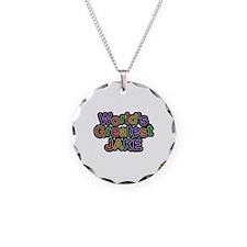 World's Greatest Jake Necklace Circle Charm