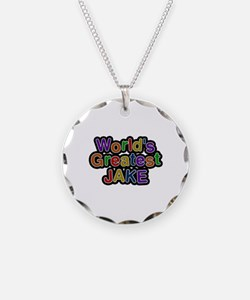 World's Greatest Jake Necklace Circle Charm