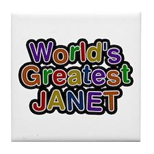 World's Greatest Janet Tile Coaster