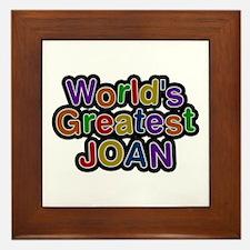 World's Greatest Joan Framed Tile