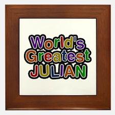 World's Greatest Julian Framed Tile