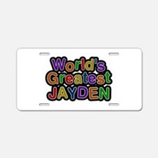 World's Greatest Jayden Aluminum License Plate