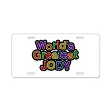 World's Greatest Jody Aluminum License Plate