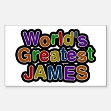 World's Greatest James Rectangle Decal