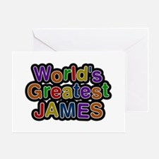 World's Greatest James Greeting Card