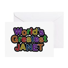 World's Greatest Janet Greeting Card