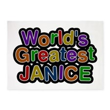 World's Greatest Janice 5'x7' Area Rug