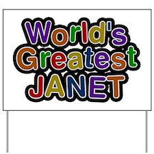 World's Greatest Janet Yard Sign