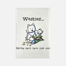 Westies Addict Rectangle Magnet (100 pack)