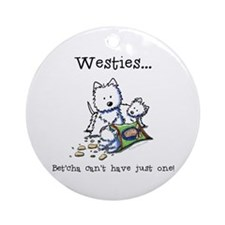Westies Addict Ornament (Round)