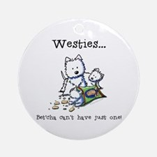 Westies Addict Ornament (Round)