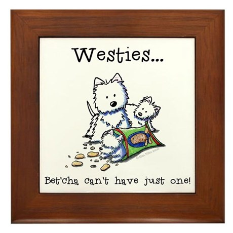 Westies Addict Framed Tile