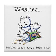 Westies Addict Tile Coaster