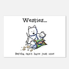 Westies Addict Postcards (Package of 8)