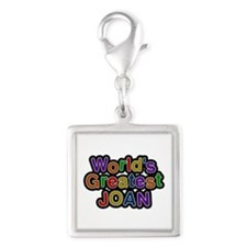 World's Greatest Joan Silver Square Charm