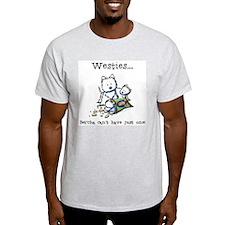 Westies Addict Ash Grey T-Shirt