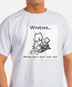 Westies Addict Ash Grey T-Shirt