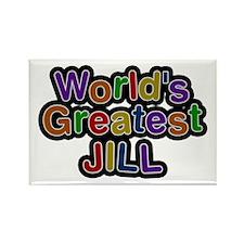 World's Greatest Jill Rectangle Magnet 100 Pack