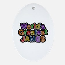 World's Greatest James Oval Ornament