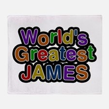 World's Greatest James Throw Blanket