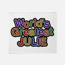 World's Greatest Julie Throw Blanket