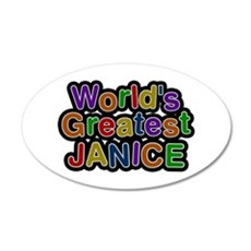 World's Greatest Janice 20x12 Oval Wall Decal