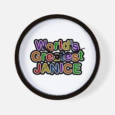 World's Greatest Janice Wall Clock