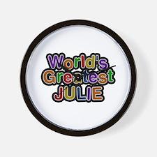 World's Greatest Julie Wall Clock