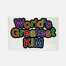 World's Greatest Kim Rectangle Magnet