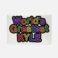 World's Greatest Kyle Rectangle Magnet