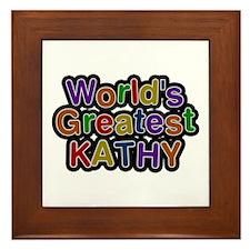 World's Greatest Kathy Framed Tile