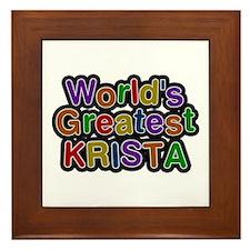 World's Greatest Krista Framed Tile