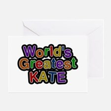 World's Greatest Kate Greeting Card