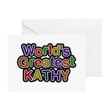 World's Greatest Kathy Greeting Card