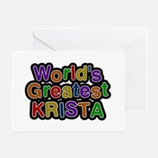 World's Greatest Krista Greeting Card