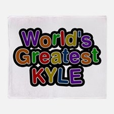 World's Greatest Kyle Throw Blanket