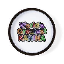 World's Greatest Karina Wall Clock
