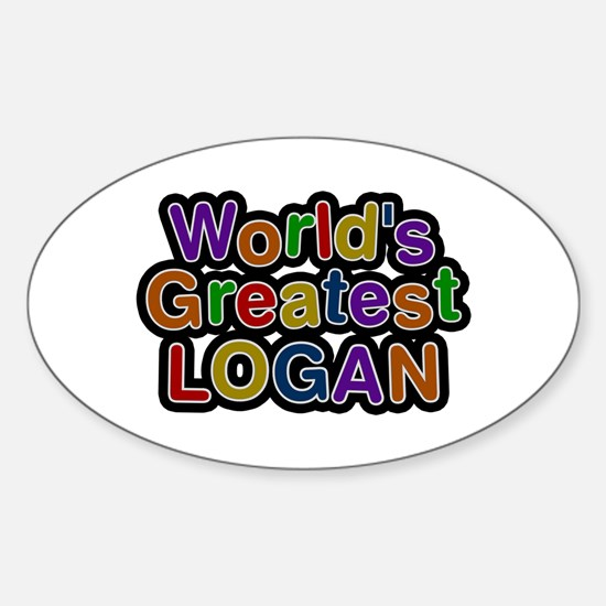 World's Greatest Logan Oval Decal